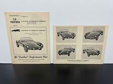 RARE 3 Vintage Original 1960s 2.6 PANTHER Sports Car Dealer BROCHURE Catalog