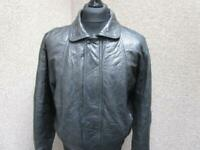 MENS MEDIUM MIDWEIGHT ZIPPED LEATHER JACKET / REF A21 836