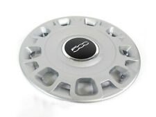 "2012-2017 FIAT 500 15"" STEEL WHEEL SILVER HUB CAP COVER NEW OEM MOPAR GENUINE"