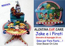 JAKE e i PIRATI ALZATA CUP CAKE COMPLETA 24 cm FESTA BUFFET COMPLEANNO PARTY
