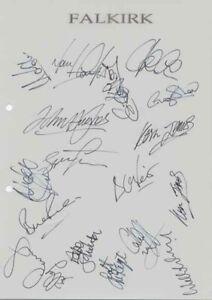 Falkirk FC - Signed Team Sheet - COA (14933)