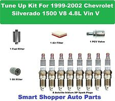 Tune Up Kit for 99 - 02 Silverado 1500 Vin V Spark Plug, Oil Filter, PCV Valve