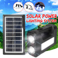 Portable Solar Panel System 10000mAh Battery Charger 3 Bulbs Light Outdoor Home
