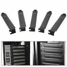 Black metal punching computer case PCI Bracket Slot Dust Steel Black Cover G6X9