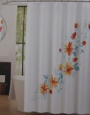 """Tahari Emi Floral Fabric Shower Curtain 72"""" x 72""""  NIP"""