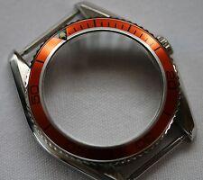Planet ocean watch case homage stainless steel ETA 2824 orange bezel cases parts