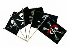 "12x18 12""x18"" Wholesale Combo Jolly Roger Pirate 5 Pack Set Stick Flag"