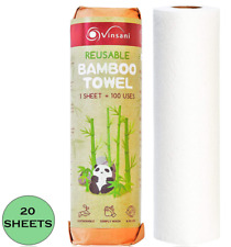 Reusable Paper Towel | Bamboo Eco Kitchen Roll | Multipurpose Eco Cleaning