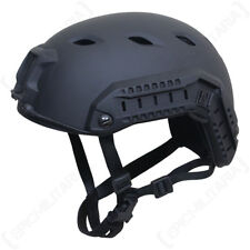 US Paratrooper Helmet with Rail - Black - American Army Airsoft Special Forces