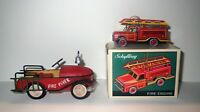 Discontinued Lot Fireman CHRISTMAS FIRE ENGINE TOY ORNAMENT - SCHYLLING
