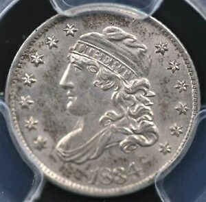 1834 CAPPED BUST HALF DIME NGC MS 62 EXCELLENT STRIKE AND FROSTY WHITE LUSTER