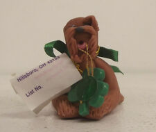 1985 - 1990 Cecile Baird Clay Dog Figurine Damaged Irish Terrier Handmade