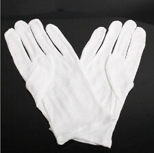 thin 1 Pairs White Jewelry Silver Inspection Cotton Lisle WORK Gloves  to pit