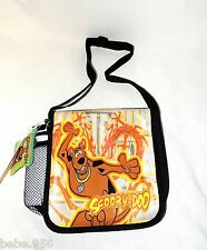 "NEW SCOOBY-DOO  INSULATED LUNCHBOX BAG  8""x8""x 3""  APPROX.FREE WATER BOTTLE"