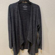 Torrid Size 1 (XL) Super Soft Plush Gray Drape Front Cardigan