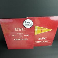 "4 USC Trojans Portfolio Folders School Supplies 9.5"" x 12"" Turner Licensing"