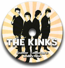 THE KINKS POP ROCK GUITAR TABS TABLATURE SONG BOOK SOFTWARE CD