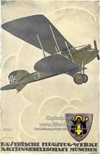 Bayerische Flugzeug Werke München Münchener Kindl Plakat  Motor A3 184