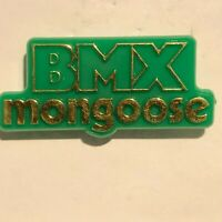 1980's BMX Mongoose Plastic Advertising Badge Original 1980's