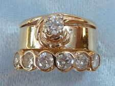 14K Yellow Gold Wedding Set, , 3.75mm & 6, 3.5mm Diamonds TCW 1.20, size 5