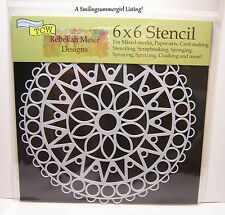 6x6 Mini Stained Glass Mandala Design Stencil Crafters Workshop Paper Art Craft
