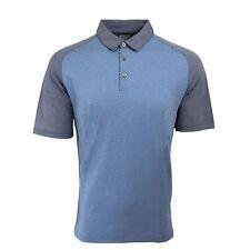 Ashworth Men's AM3186F6 Textured Polo Shirt Costal Blue M