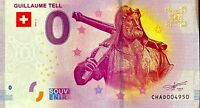 BILLET 0  EURO  GUILLAUME TELL SUISSE  2017  NUMERO SUITE 4950