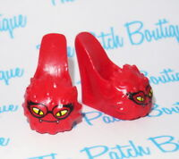MONSTER HIGH DEAD TIRED GHOULIA YELPS DOLL REPLACEMENT RED SLIPPERS SHOES ONLY