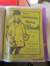VINTAGE SHEET MUSIC OF THE THEME FROM THREEPENNY OPERA  - PIANO SOLO