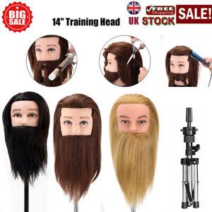 Neverland Beauty Men Male Beard Mannequin Training Head Hairdressing Clamp UK