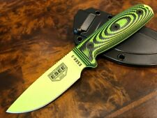 ESEE Knives 3 Venom Green Blade Neon Green/Black G10 3D Handle 3PMVG-007