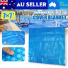 Square Solar Swimming Pool Cover 600μm Spa Bubble PE Outdoor Blanket 7' x 7' AU
