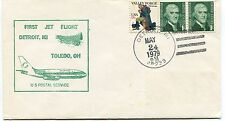 FFC 1979 First Flight Detroit Toledo Us Postal Service Michigan Ohio