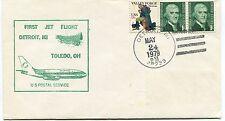 FFC 1979 First Flight Detroit Toledo Us Postal Service Michigan Ohio