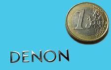 Denon metalissed Chrome effect sticker logo autocollant 30x6mm [388]