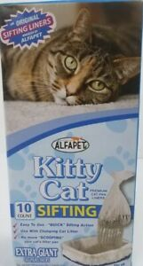 2-AlfaPet Kitty Cat Sifting Litter Box Liners Giant 10 Count Cat Pan Liners