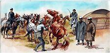 Originalzeichnung Gemälde Pferde für Rasselbande 1955 Wilhelm Eigener Tiermaler