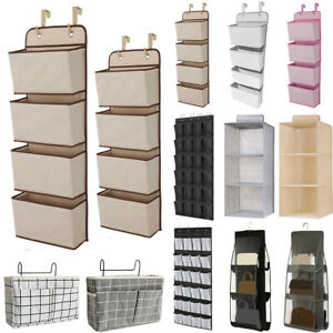 Wall Door Hanging Storage Shelf Bag Wardrobe Holder Closet Shoes Rack Organizer