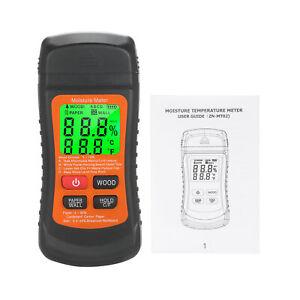 Wood Moisture Meter LCD Digital Damp Moisture Tester P4A8