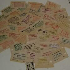50 Vintage Fortune tickets from Swami Carnival Machine paper ephemera lot