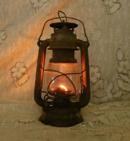 Vintage Iron BAT NO.158 Kerosene Lantern Made In Germany Oil Lamp Original Glass