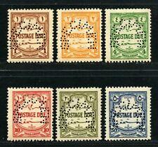 Jordan Transjordan 1929 Postage Due Cpl. SG D189-194s SPECIMEN OG Mint £150