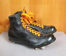 size 40 fa88c 5552e Vintage 1950s MacGregor Alta Top Negro Cuero Zapatos Botines De Fútbol  Talla 6.5