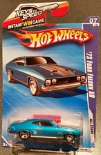 73 Ford Falcon XB 351 V8 BLUE ~ KEYS TO SPEED CARD ~ HOT WHEELS 2010 ALL STARS
