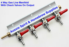 Brand New Gas Manifold 4 Way Distribution With Checkvalves Great for Home Brew