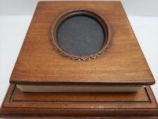 "Vintage Desk Wood Picture Frame Photo Album Holds 48 5"" x 5"" Photos"