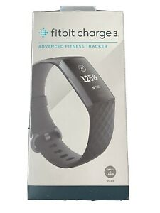 Fitbit Charge 3 Fitness Activity Tracker - Graphite/Black Brand New S/L Bands