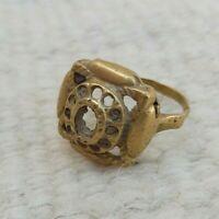 VERY RARE ANCIENT ROMAN WEDDING BRONZE RING OLD ARTIFACT AUTHENTIC STUNNING