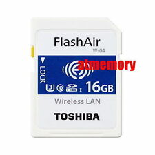 Toshiba 16GB 32GB 64GB Flashair W-04 Wi-Fi SD SDHC SDXC Wireless Card U3 AU