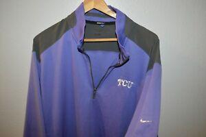 TCU Texas Christian University NIKE GOLF Pullover Sweater 1/4 Zip Mens XXL